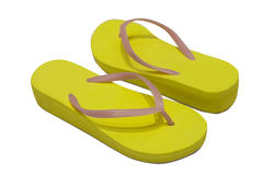 Yellow thongs Royalty Free Stock Photo
