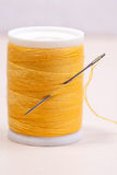 Yellow threads Royalty Free Stock Image
