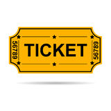 Yellow ticket Royalty Free Stock Photos
