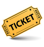 Yellow ticket Royalty Free Stock Images