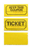 Yellow Ticket stock image