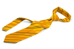 Yellow tie Royalty Free Stock Image