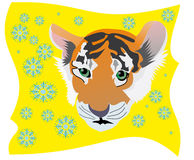 Yellow tiger Royalty Free Stock Photo