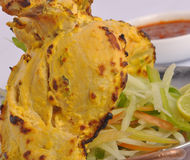 Yellow tikka chicken beeked Royalty Free Stock Photography