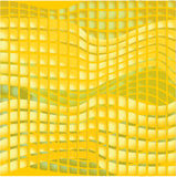 Yellow tile with abstract mosaic pattern Stock Photos
