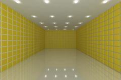 Yellow tile wall Royalty Free Stock Photo