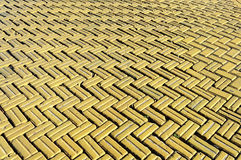 Yellow tiled road background Stock Image