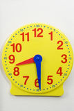 Yellow Time Teaching Clock Stock Images