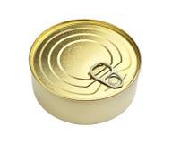 Yellow tin can Stock Image