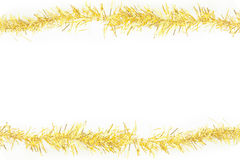 yellow tinsel frame Royalty Free Stock Images