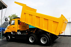 Yellow tipper Stock Photo