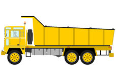 Yellow tipper truck Royalty Free Stock Photography