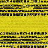 Yellow tire track background Stock Photo