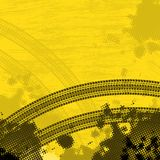 Yellow tire track background Royalty Free Stock Images