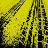 Yellow tire track background Stock Image