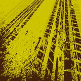 Yellow tire track background Royalty Free Stock Photography