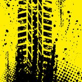 Yellow tire track wallpapper Stock Photography