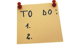 Yellow To do list Stock Photo