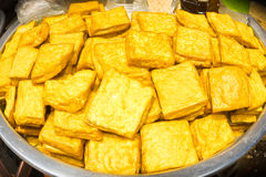 Yellow tofu. Royalty Free Stock Photos