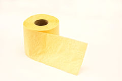 Yellow toilet paper Stock Image