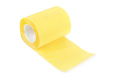 Yellow toilet paper Royalty Free Stock Image