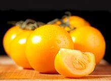 Yellow tomato Stock Image