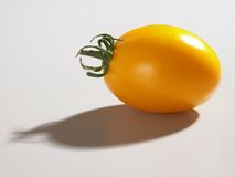Yellow Tomato. On a white background with shadow Stock Images