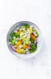 Yellow Tomato Salad with Feta Stock Image