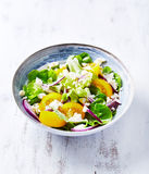 Yellow Tomato Salad with Feta Stock Photography