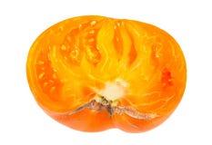 Yellow tomato slice Royalty Free Stock Image