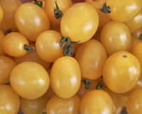 Yellow  tomatoes, food background Stock Images