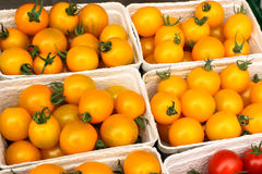 Yellow tomatoes from market. Sweet fresh yellow tomatoes from market Royalty Free Stock Photography