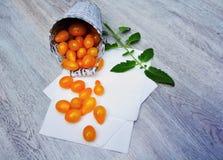 Yellow tomatoes Stock Photo