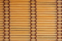 Yellow tone bamboo blinds Royalty Free Stock Photos