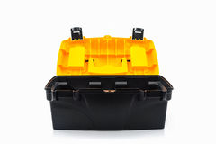 Yellow tool box, Plastic tool box. Stock Image