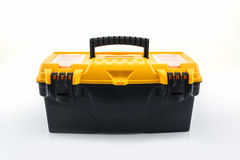 Yellow tool box, Plastic tool box. Stock Photo