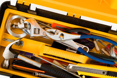Yellow Toolbox Stock Photography