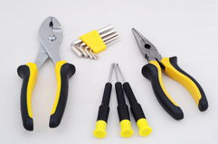 Yellow tools Stock Images