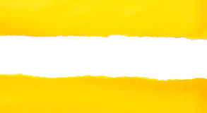 Yellow torn paper Stock Images