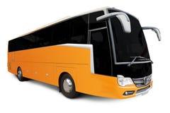 Yellow Tour bus Royalty Free Stock Image