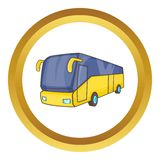 Yellow tourist bus vector icon Royalty Free Stock Images