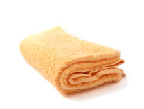 Yellow towel Stock Images