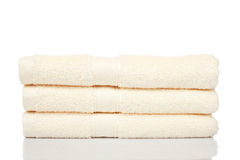Yellow towels Royalty Free Stock Photography