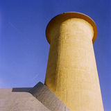 Yellow tower, Bauhaus style Royalty Free Stock Photography