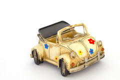 Yellow toy car Stock Images
