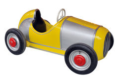 Yellow toy car Royalty Free Stock Photo