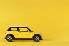 Yellow toy car Royalty Free Stock Photos