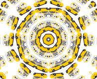 Yellow toy car kaleidoscope stock image