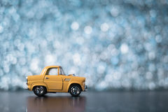 Yellow toy car Stock Image