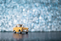 Yellow toy car Stock Photos